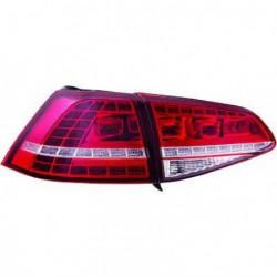 Set fari fanali posteriori GTI R look tuning sportivi VW GOLF VII, 2012- berlina, LED rosso cromato