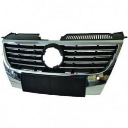 Calandra griglia VW PASSAT 3C 2005-2010 per sensori parcheggio, listelli cromati con bordo cromato
