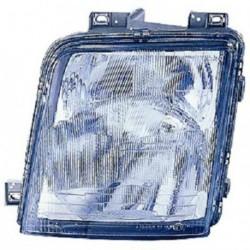 Faro fanale proiettore anteriore destro VOLKSWAGEN LT 1996-2007 DEPO per regolazione elettrica H1+H1 senza fendinebbia