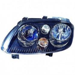 Faro fanale proiettore anteriore destro VW TOURAN 2003-2006 DEPO TYC H7+H7 con motorino regolazione elettrica, fondo nero